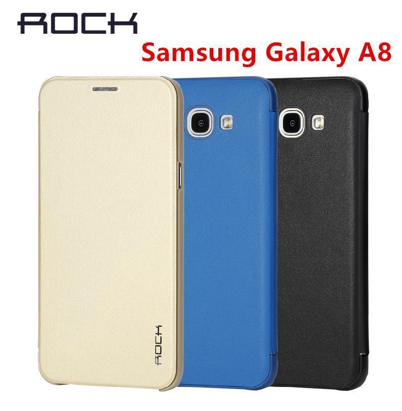 huge discount 28a5f 27e76 Original Rock Samsung Galaxy A8 Baby Skin Flip Case Cover Casing