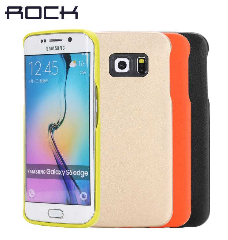 Original Rock Samsung Galaxy S6 Edge Leather Back Case Cover Casing