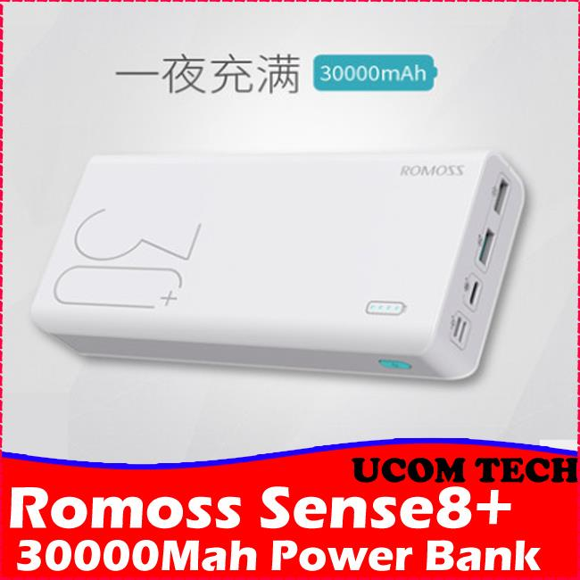 Original ROMOSS Sense8+ Power Bank 30000mAh Lightning Type-c