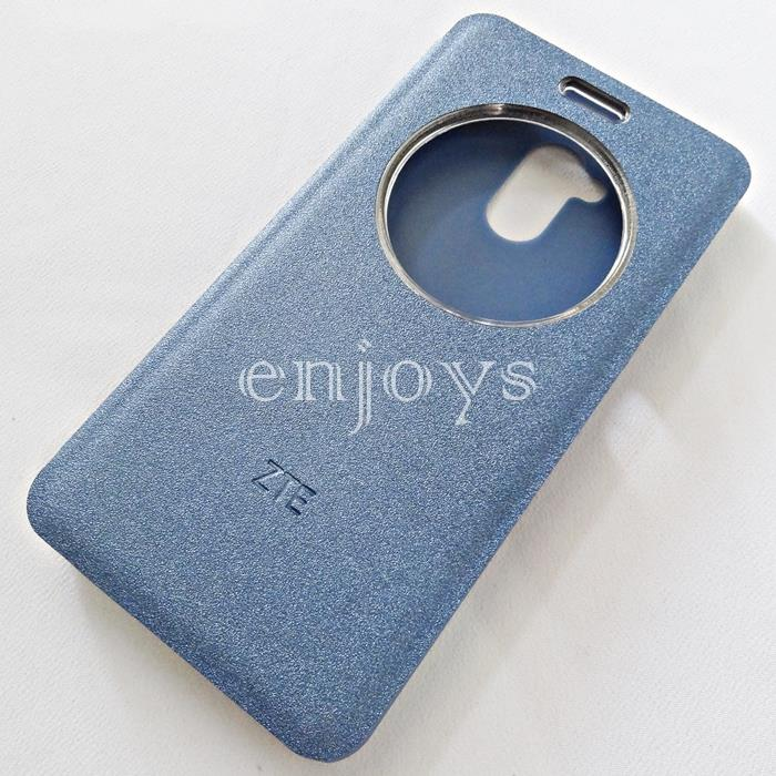 ORIGINAL S View Book Flip Cover Hard Case ZTE Blade V7 Lite 5.0' ~BLUE
