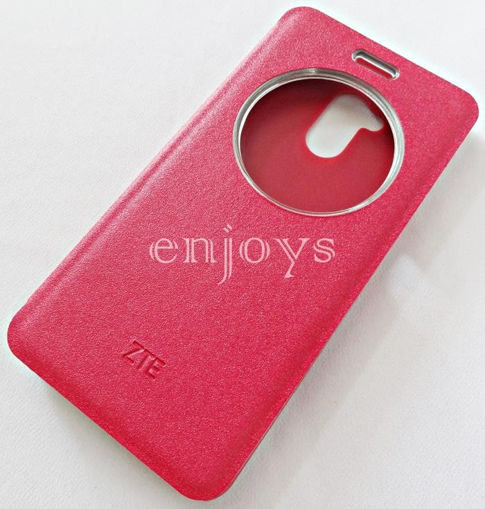ORIGINAL S View Book Flip Cover Hard Case ZTE Blade V7 Lite 5.0' ~RED