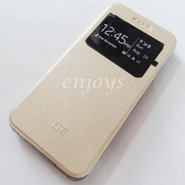 ORIGINAL S View Design Book Flip Cover Soft Case ZTE Blade A610 ~GOLD