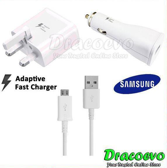 Original Samsung Fast Charge USB Cable Car Adapter Note 4 5 7 S6 S7 S8
