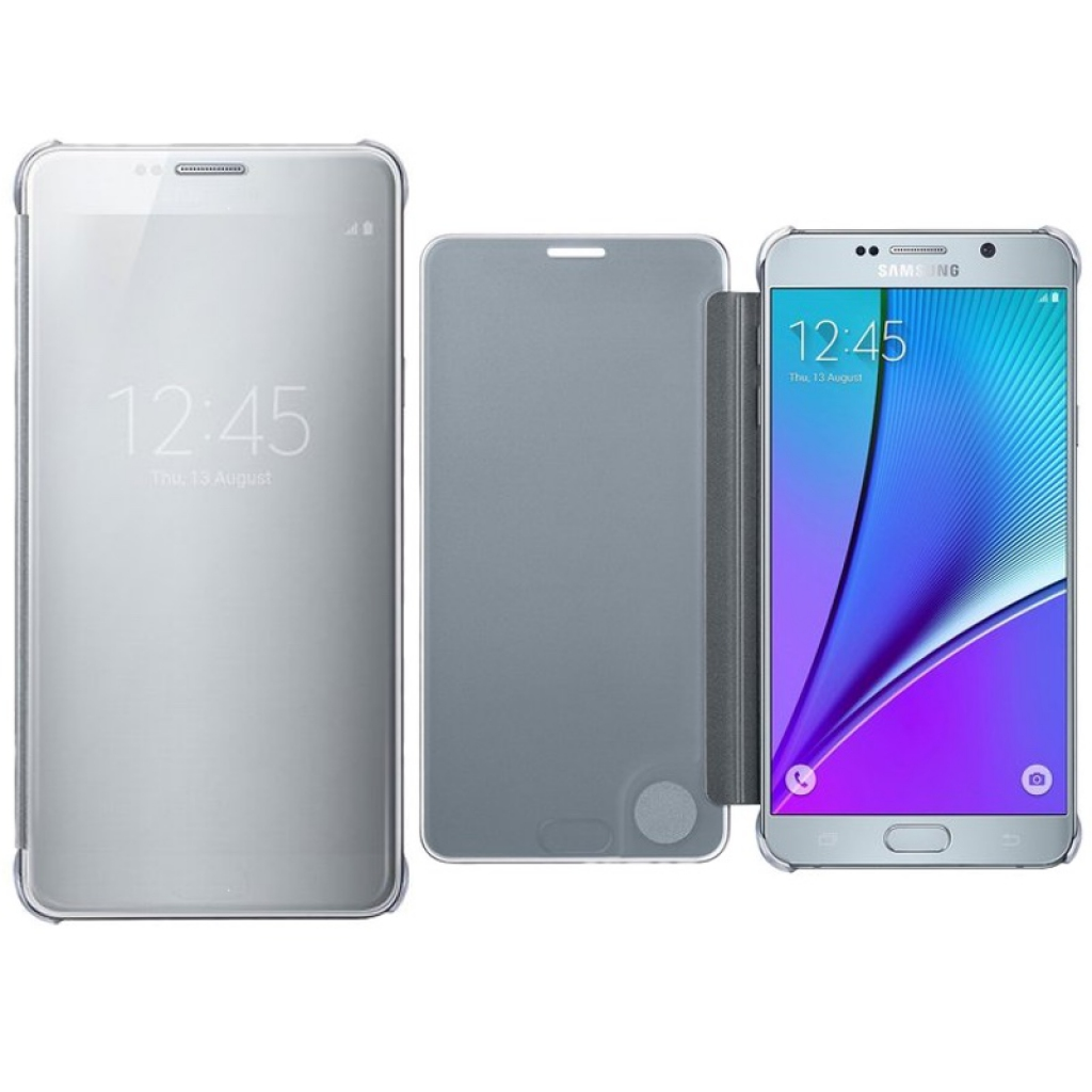 wholesale dealer b37bb 6cd2e Original Samsung Galaxy note 5 Clear View Cover Case (Silver)