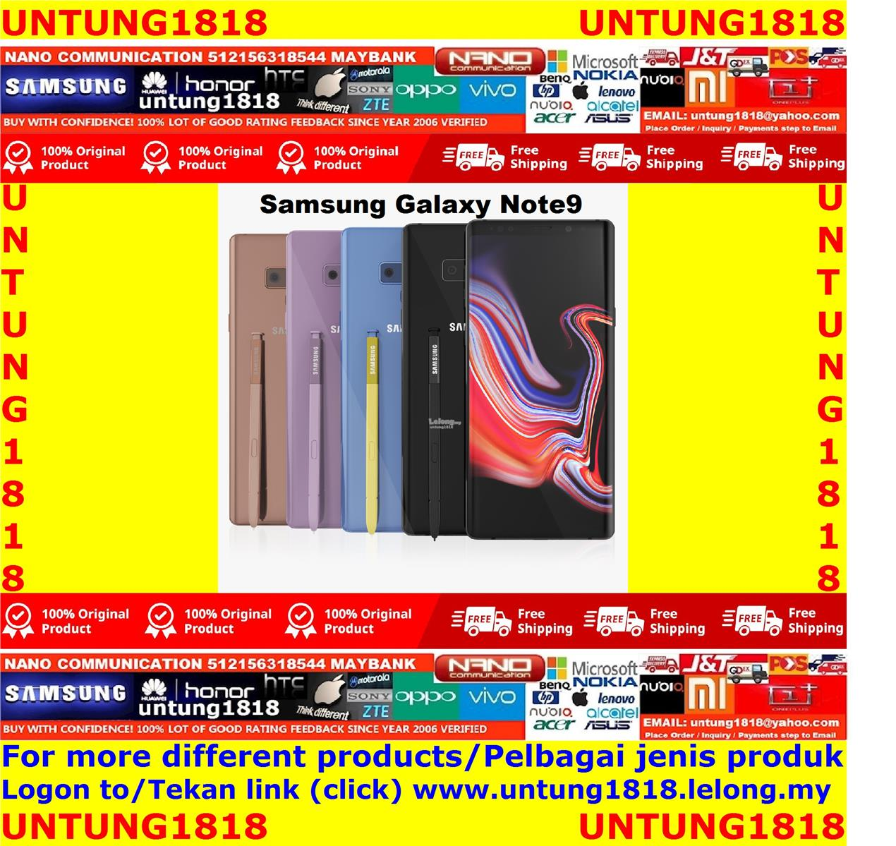 ORIGINAL.Samsung Galaxy Note 9 Note9 More Choice