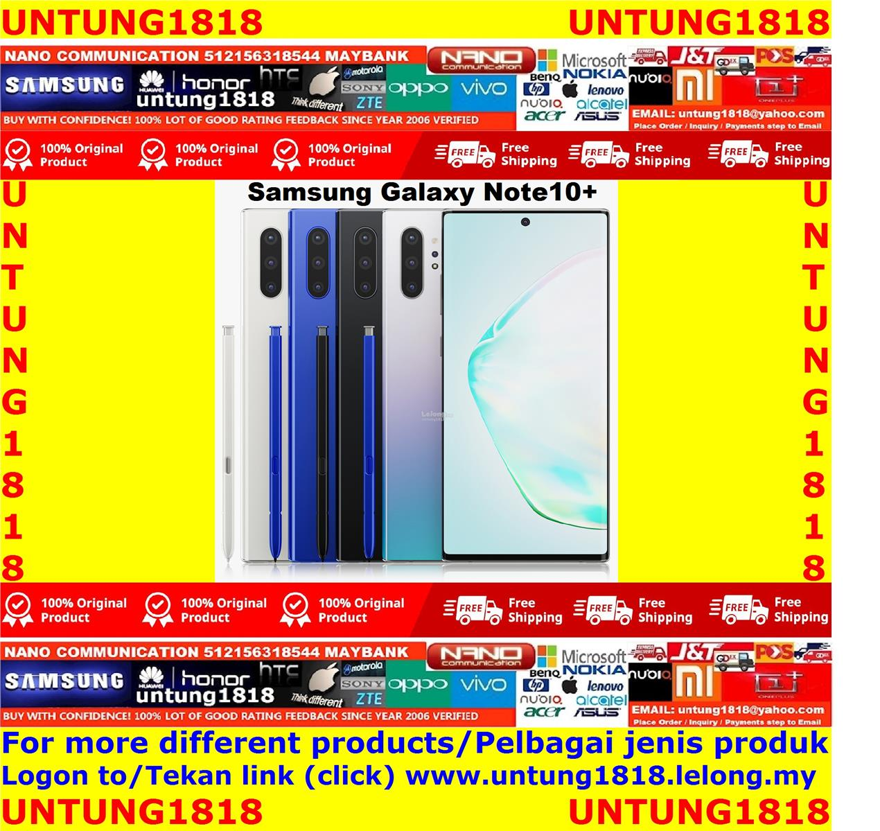 ORIGINAL.Samsung Galaxy Note10+ Note 10+ Note10 Plus More Choice