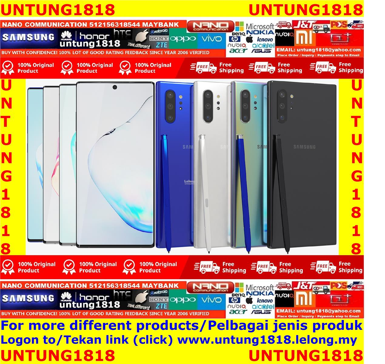 ORIGINAL.Samsung Galaxy Note10 Plus Note10+ Note 10+ More Choice