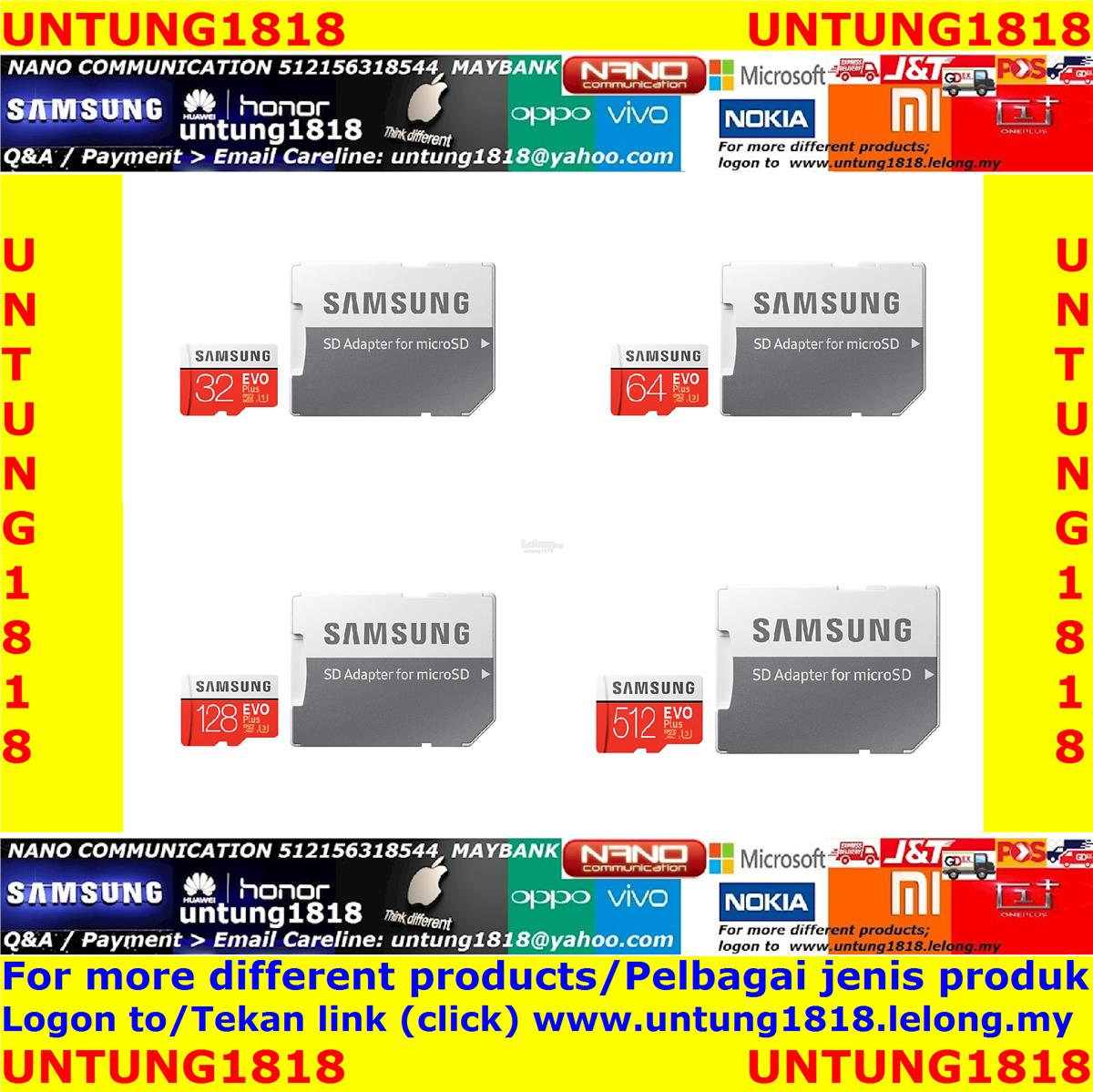 Original Samsung Malaysia_EVO Plus microSD Card withFaster Performance