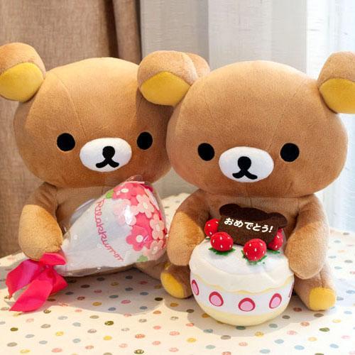Original San X Rilakkuma Take Cake Flower Toy Plush RK 40