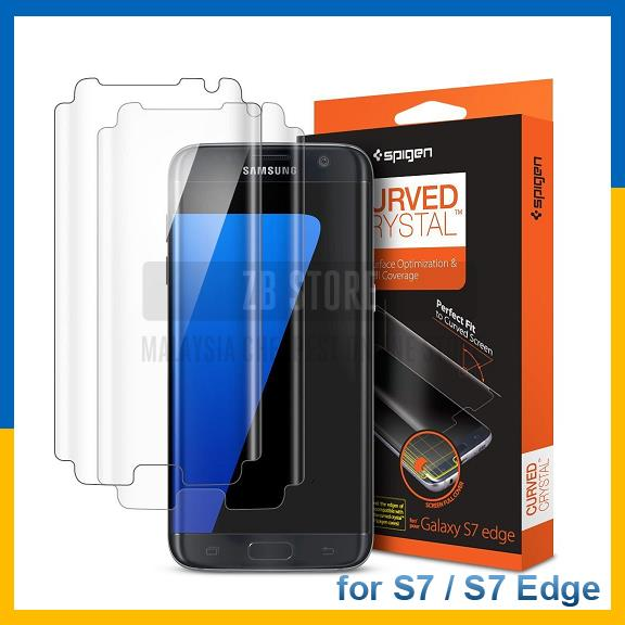 Original SGP Spigen S7 S 7 Edge Screen Protector Curved Crystal