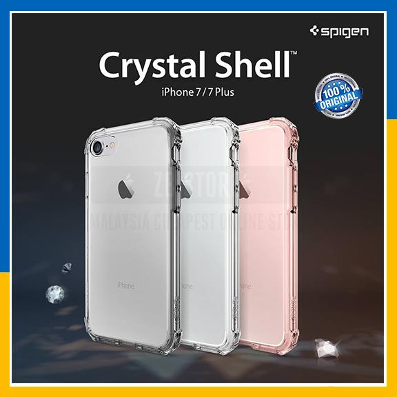 super popular 92bfd 5f9f7 Original Spigen Apple iPhone 7 7 Plus Crystal Shell Case Clear Cover