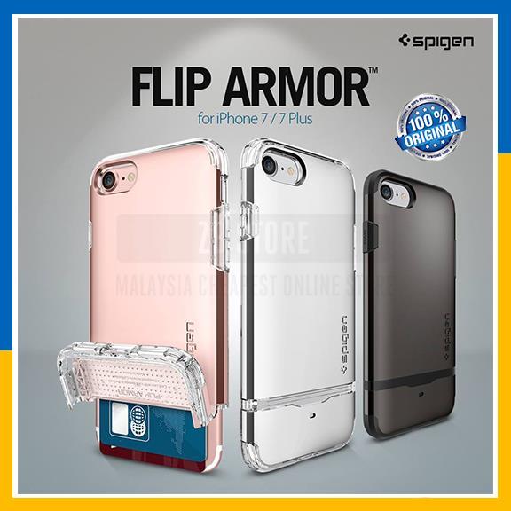 competitive price c484b d53ec Original Spigen Apple iPhone 7 7 Plus Flip Armor Case Wallet Cover