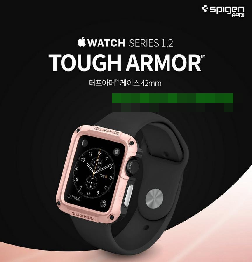 Original Spigen Apple Watch 1 2 3 Tough Armor Case Cover Casing @42mm
