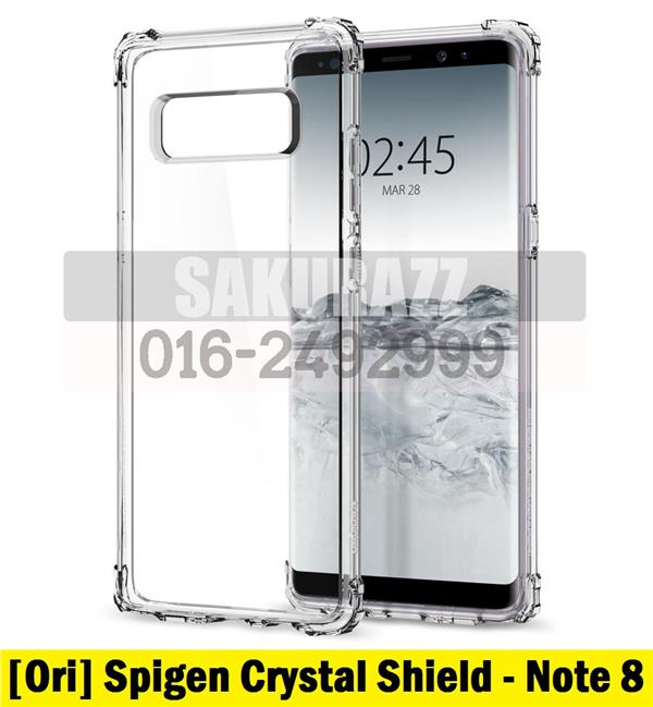 Original Spigen Crystal Shell Shield Additional Cushion Series Note 8