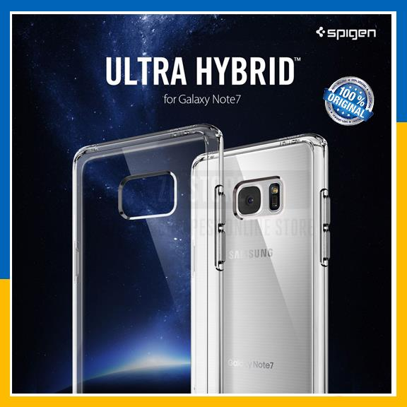 check out e7c76 2cd17 Original Spigen Galaxy Note 7 Ultra Hybrid Hard Clear Back Case Cover