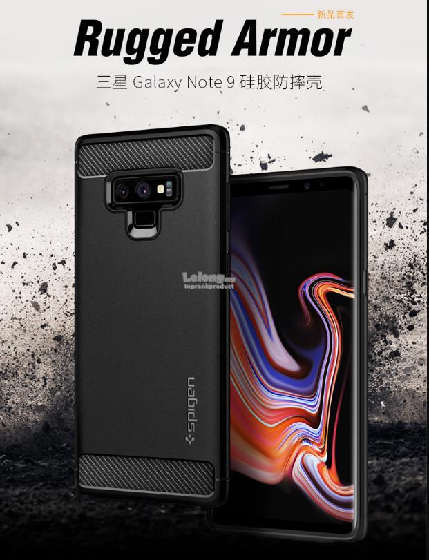 @ Original Spigen Samsung Galaxy Note 9 Rugged Armor Case Cover Casing