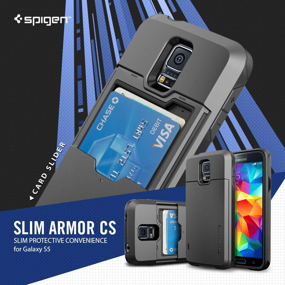 wholesale dealer fd024 484e2 Original Spigen Samsung Galaxy S5 Case Slim Armor CS