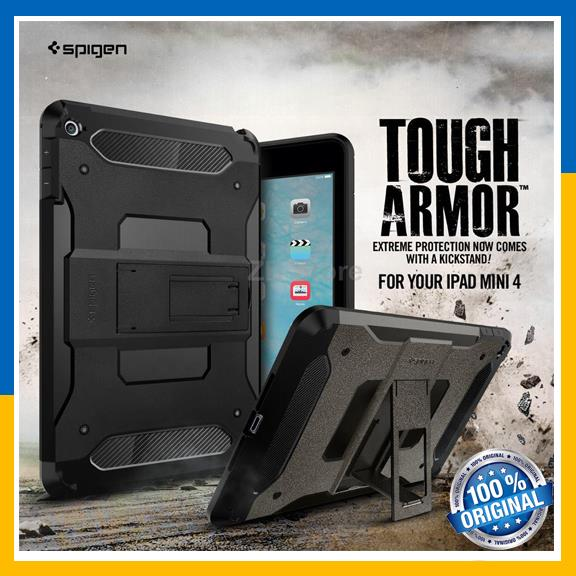 timeless design 66a40 4c251 Original Spigen SGP Apple iPad Mini 4 Case Tough Armor Cover Casing