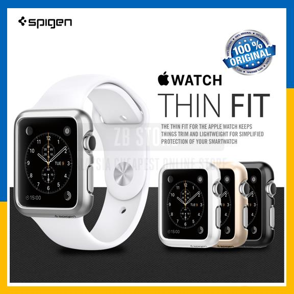 sale retailer 098c8 d47fa Original Spigen SGP Apple Watch Case Cover Thin Fit 38mm & 42mm