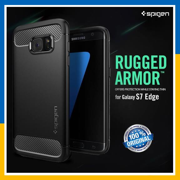 Original Spigen SGP Galaxy S7 S 7 Edge TPU Case Rugged Armor Cover