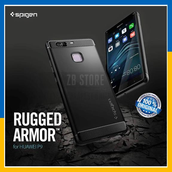 release date: 82349 a2dcb Original Spigen SGP Huawei P9 Case Rugged Armor Cover Ultimate Protect