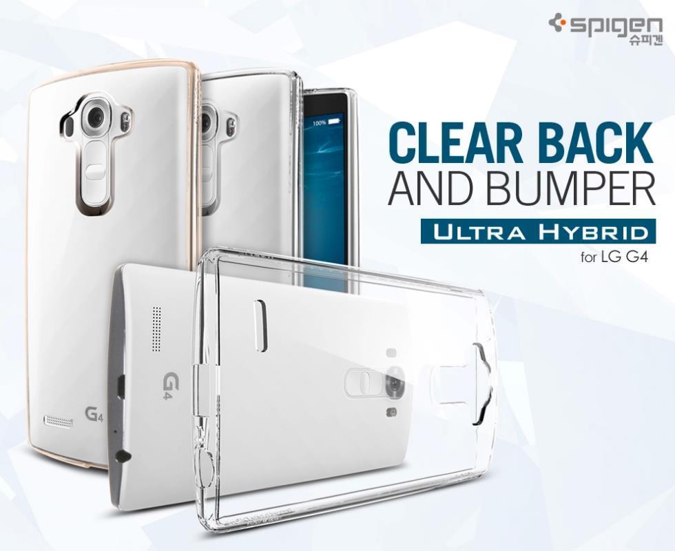 competitive price e9ead 5a65e Original Spigen SGP LG G4 Ultra Hybrid Clear Back & Bumper Case Cover