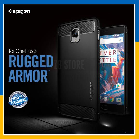 low priced 27ea2 077f7 Original Spigen SGP OnePlus 3 / 3T Case Rugged Armor Carbon Cover