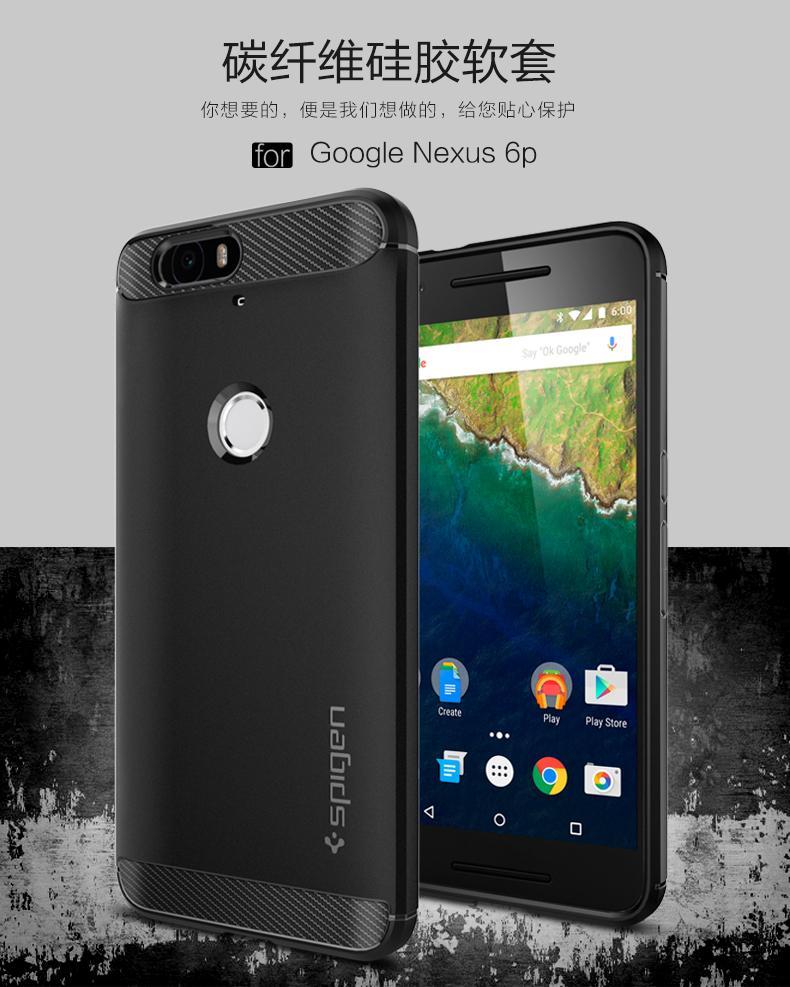 brand new 99e2c 0fc9f Original Spigen SGP Rugged Armor huawei Google Nexus 6P case + gift