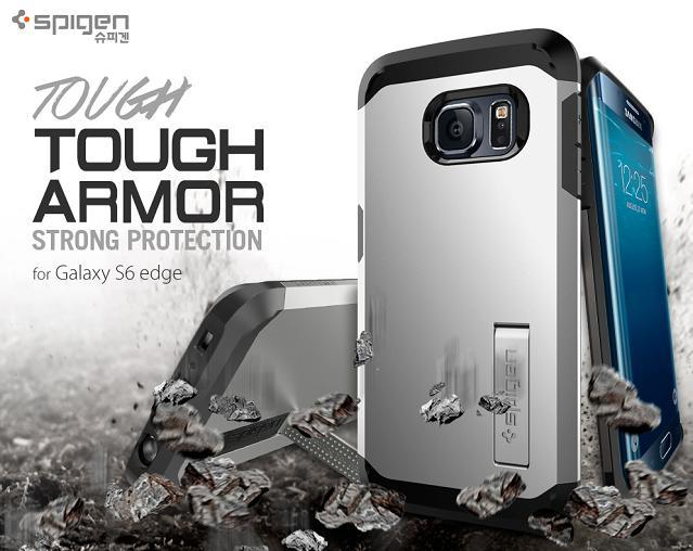 Original Spigen SGP Samsung Galaxy S6 Edge Tough Armor Case Cover