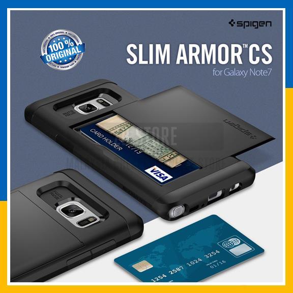 low priced b9b23 dfc57 Original Spigen Slim Armor CS Card Slot Case Cover for Galaxy Note 7