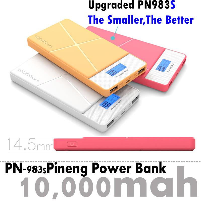 Original Super Slim Pineng Power Bank Pn983s Pn983 Full Power 10000mah