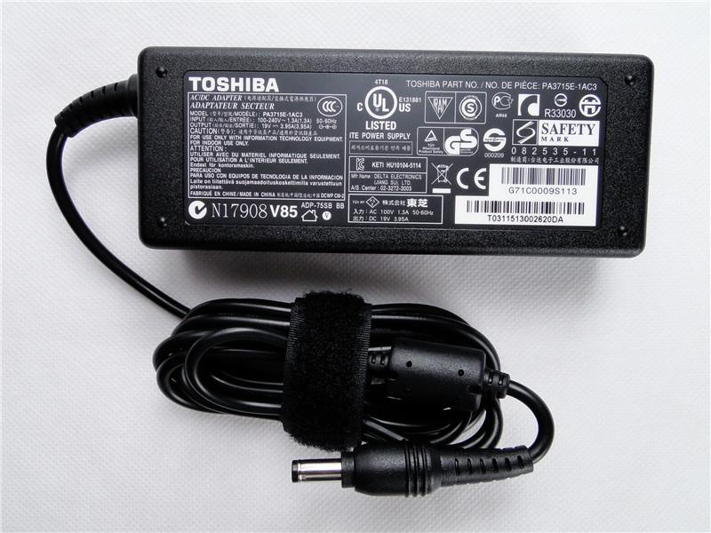 Original Toshiba PA3715E-1AC3 19V 3.95A AC Power Adapter Charger Used