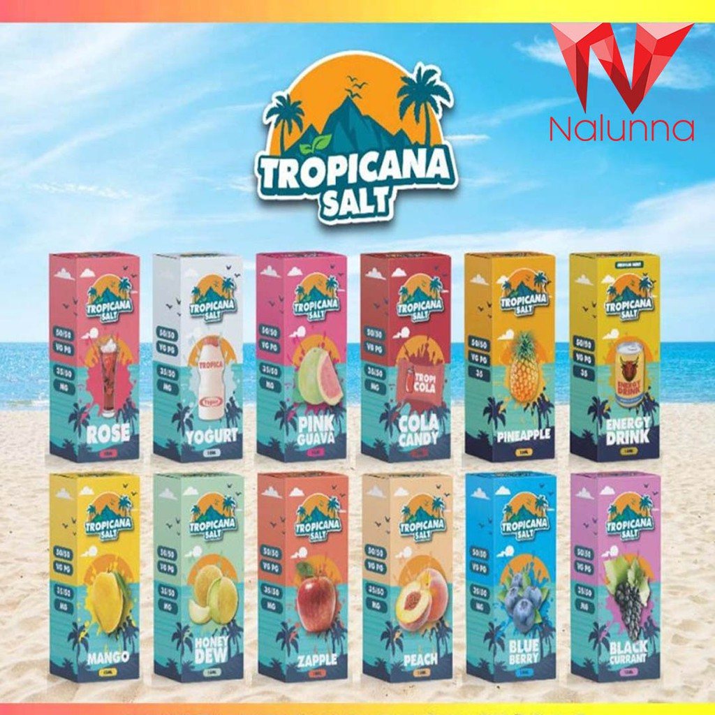 ORIGINAL Tropicana Salt 15ml Mango / Grape / L - [ENERGY DRINK,NO ICE]