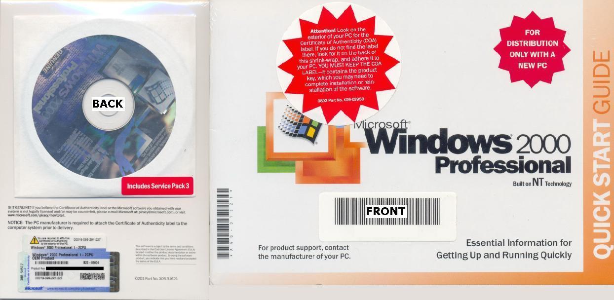 windows 2000 professional 1-2cpu