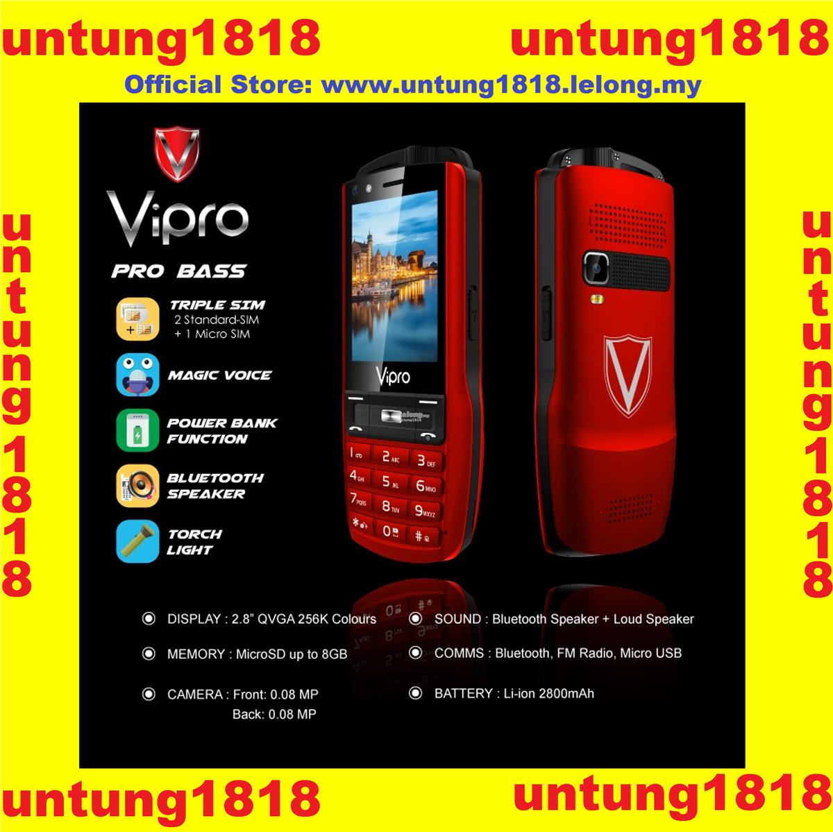 Original ViPro..ViPro Pro Bass Triple Sim Power Bank Function