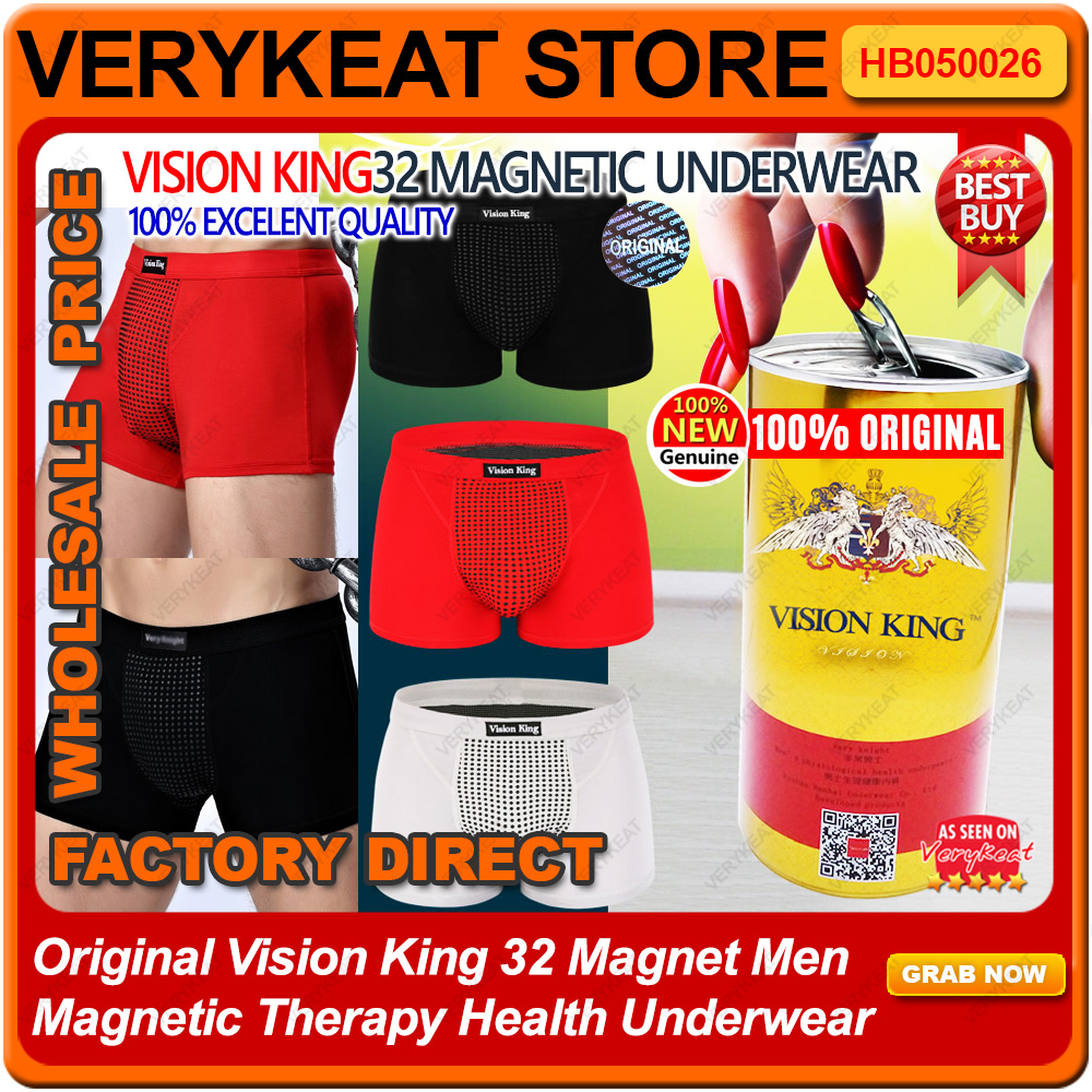 Original Vision King 32 Magnet Men Magnetic Therapy Health Underwear