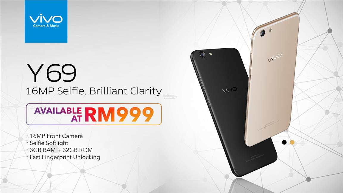 (ORIGINAL) VIVO Msia Y69 16MP 3GB RAM 32GB