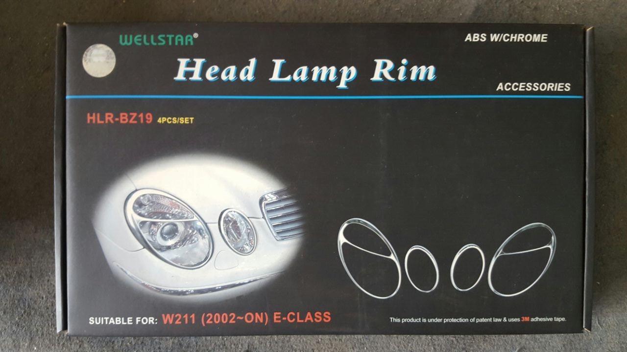 Original Wellstar Hlr Bz19 W211 E Cl Head Lamp Rim Chrome
