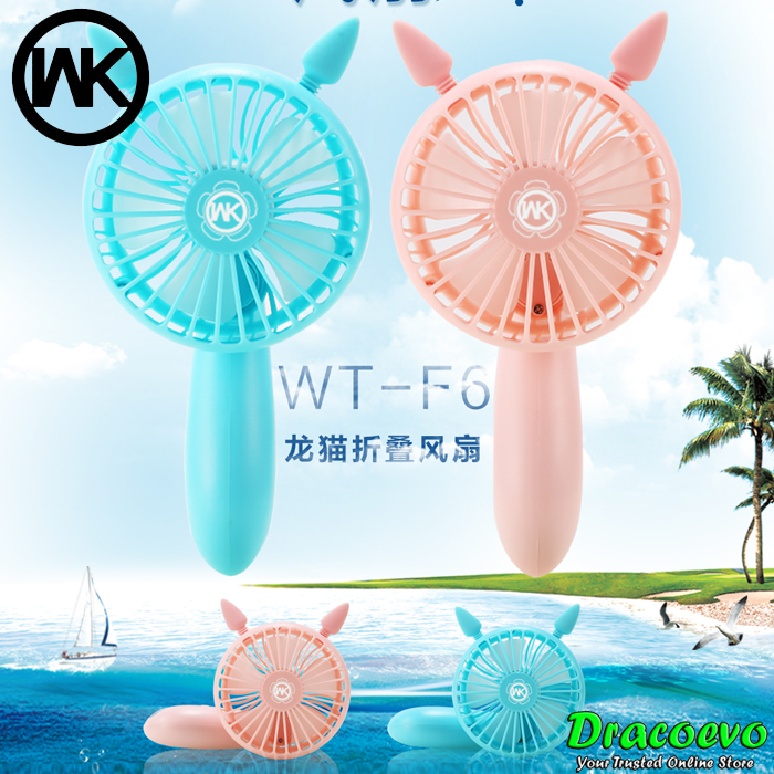 Original WK Design Foldable Chinchilla Silent Fan Adjustable WT-F6