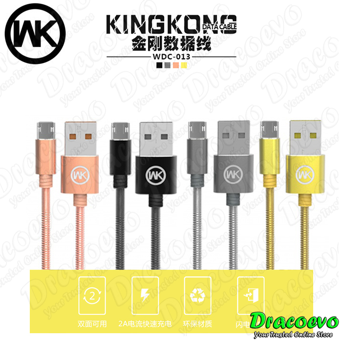 Original WK Design King Kong Iron Wire Fast Data Cable Micro USB WDC-0