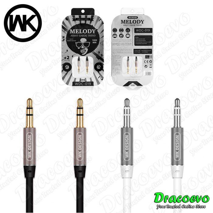 Original WK Design Melody Audio Cable DC 3.5mm 1 Meter WDC-019