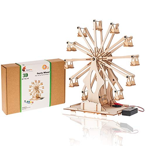 - Original Wooden Ferris Wheel Building DIY Model Kits for Adults, Teens and K