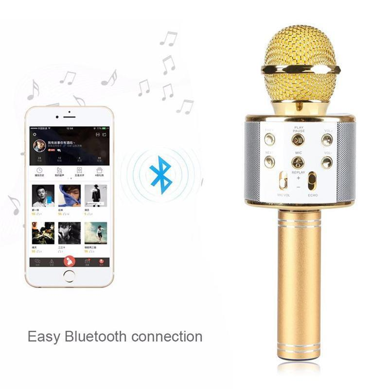 Original Wster WS858 KTV Mic Portable Bluetooth Microphone WS-858