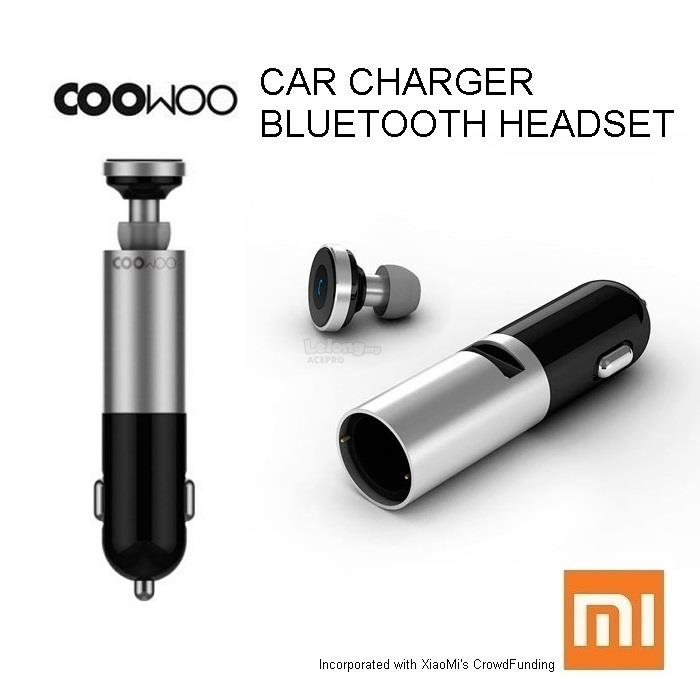 Original XIAOMI Mi Coowoo Car Charger Bluetooth Headset Earphone