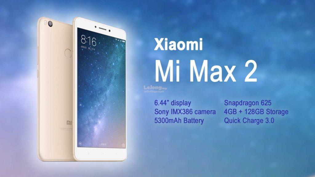 (ORIGINAL) XIAOMI Mi Max 2 4GB RAM 64GB / 128GB