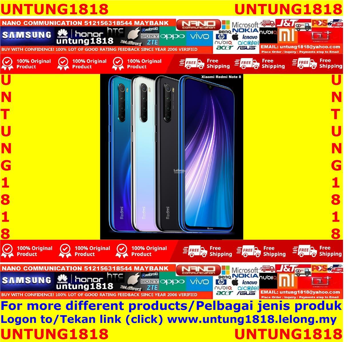 ORIGINAL.Xiaomi Redmi Note 8 Note8 More Choice
