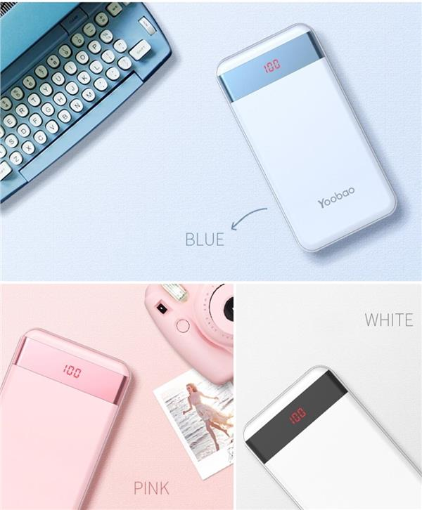 Original Yoobao 20000mAh S20-1 Power Bank With LED Screen