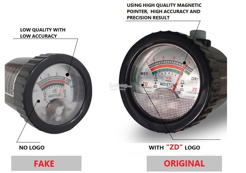 Original ZD-05 2 in 1 Professional Plant Soil PH Moisture Tester Meter