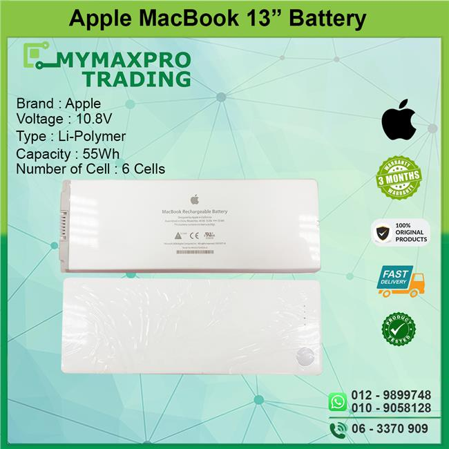 "NEW ORIGNAL BATTERY Apple MacBook 13"" 13.3 in A1181 A1185 MA561 MA566"