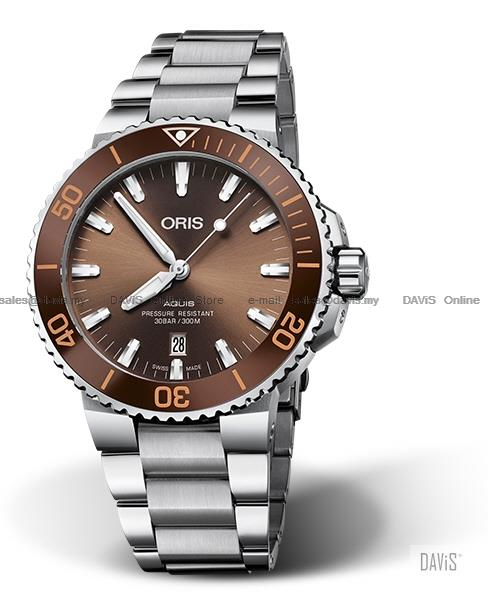 ORIS 0173377304152-0782405PEB Men Aquis Date Automatic Bracelet Brown